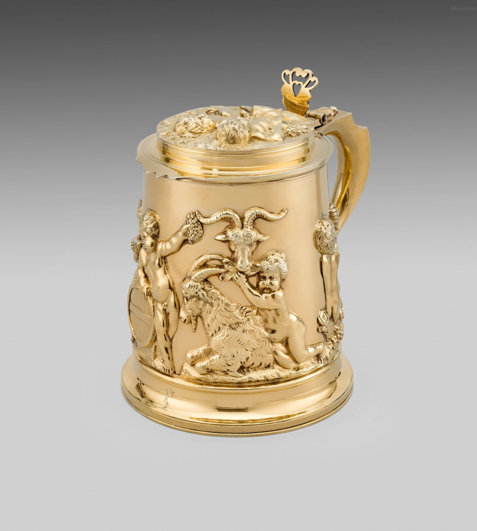 A Silver-gilt Tankard of Exceptional Gauge