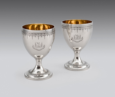 A pair of George III Irish goblets