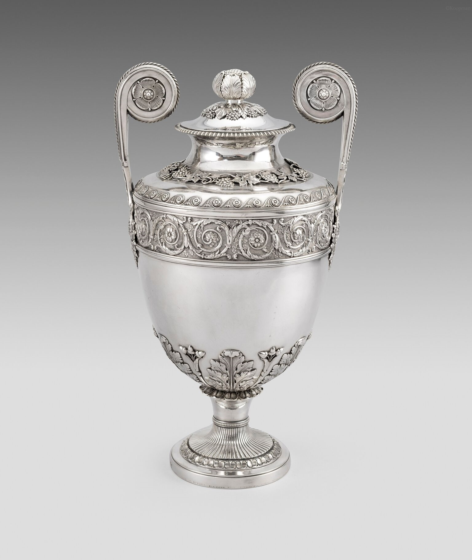 A George III Twin Handled Urn and Cover