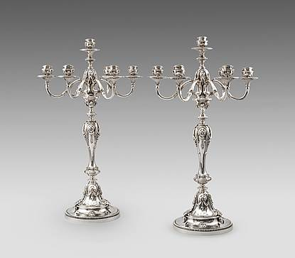 A Massive Pair of Victorian Candelabra