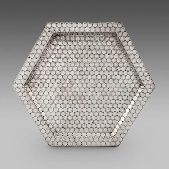 An Unusual Hexagonal Coin Tray
