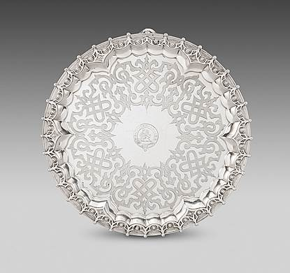 An Ornately Patterned Circular Salver