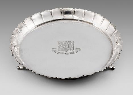 A George II Strawberry Dish
