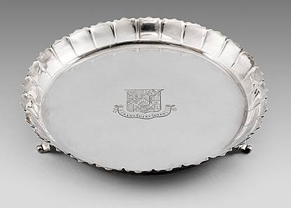 A George II Strawberry Dish