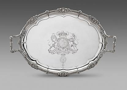 A Magnificent George III Tea Tray