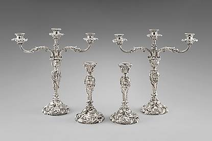 An Exceptional George III Candelabra Suite