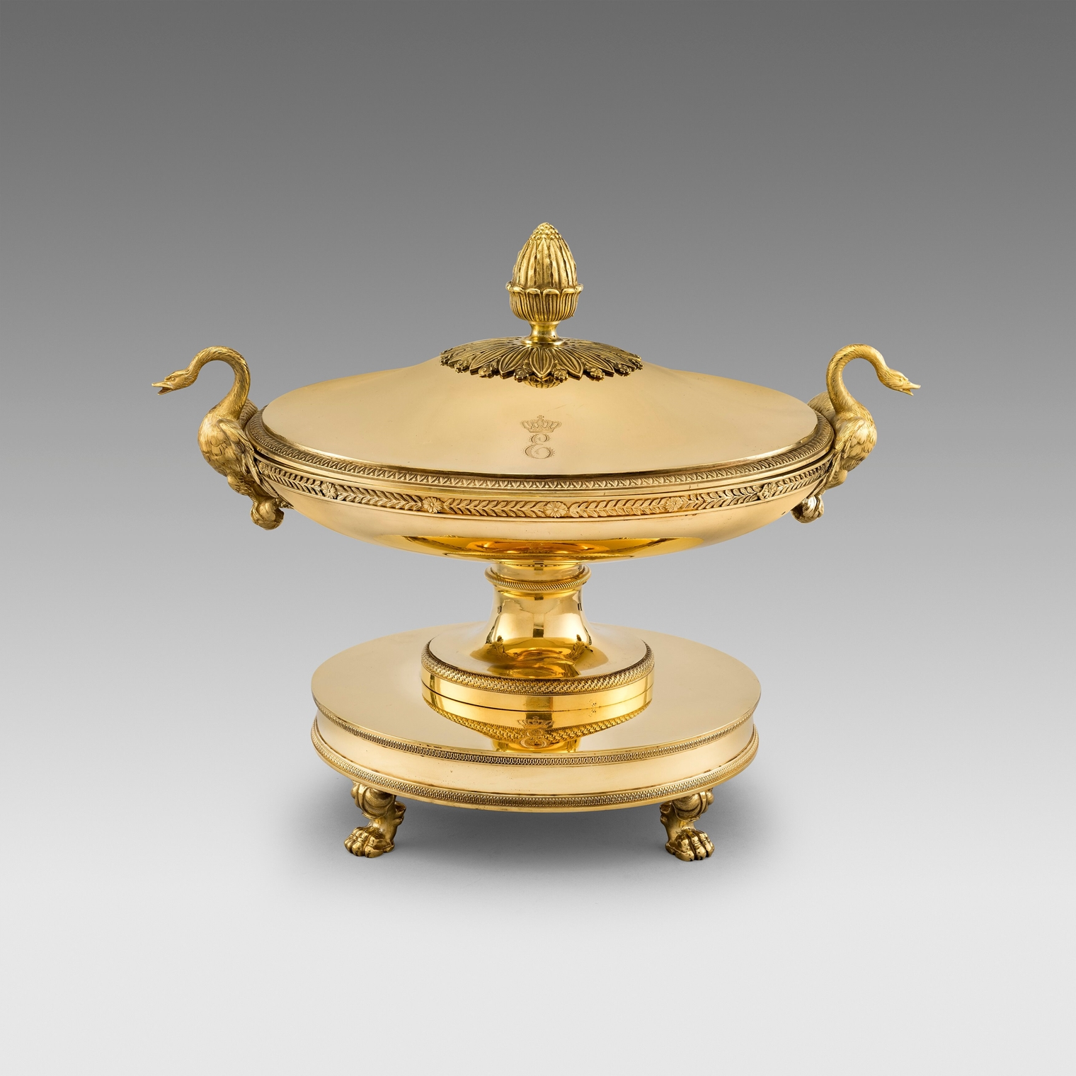 Jean-Baptiste-Claude Odiot (1763 - Paris 1850)A French 'Royal' Silver-Gilt Soup Tureen