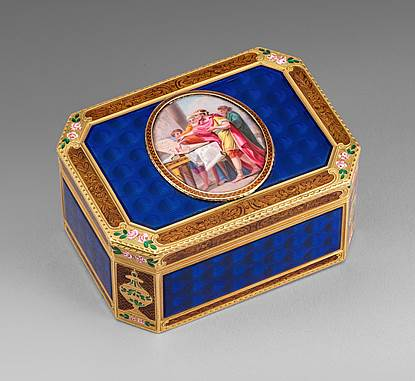 A German Gold & Enamel Snuff Box