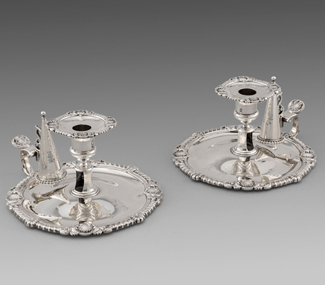 A Pair of George III Chambersticks