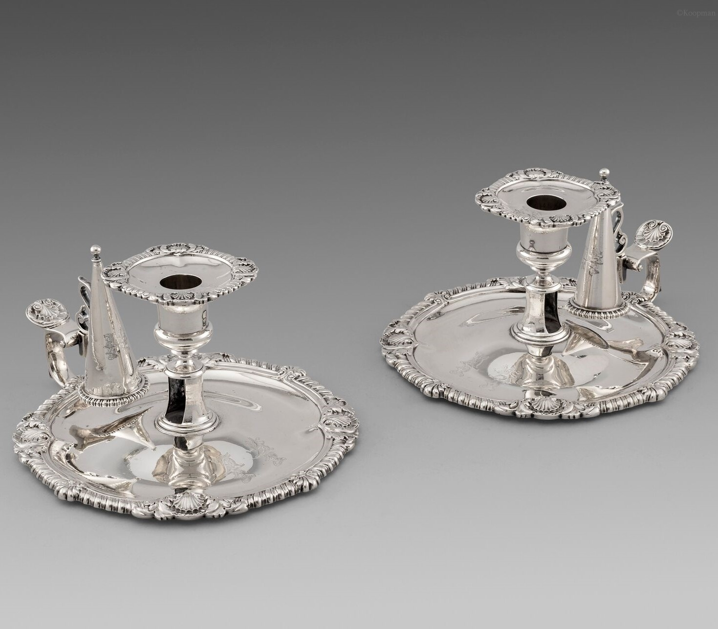 A Pair of George III Chambersticks