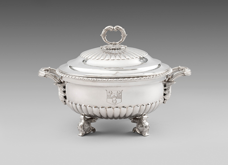 A Half-Fluted Soup Tureen