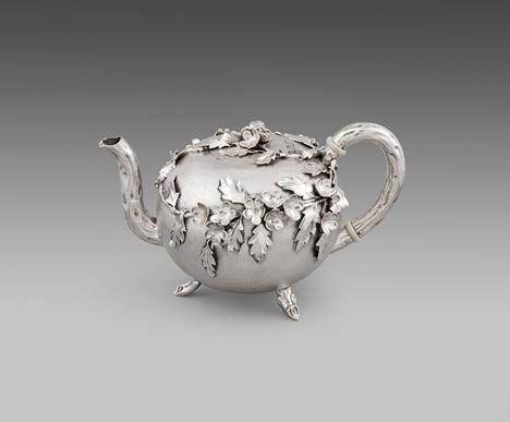 A Victorian Naturalistic Teapot