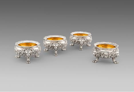 A Set of Four George IV Salt Cellars
