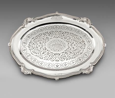 A George III Silver Mazarine and Dish