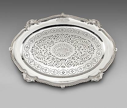 A George III Silver Mazarine and Dish