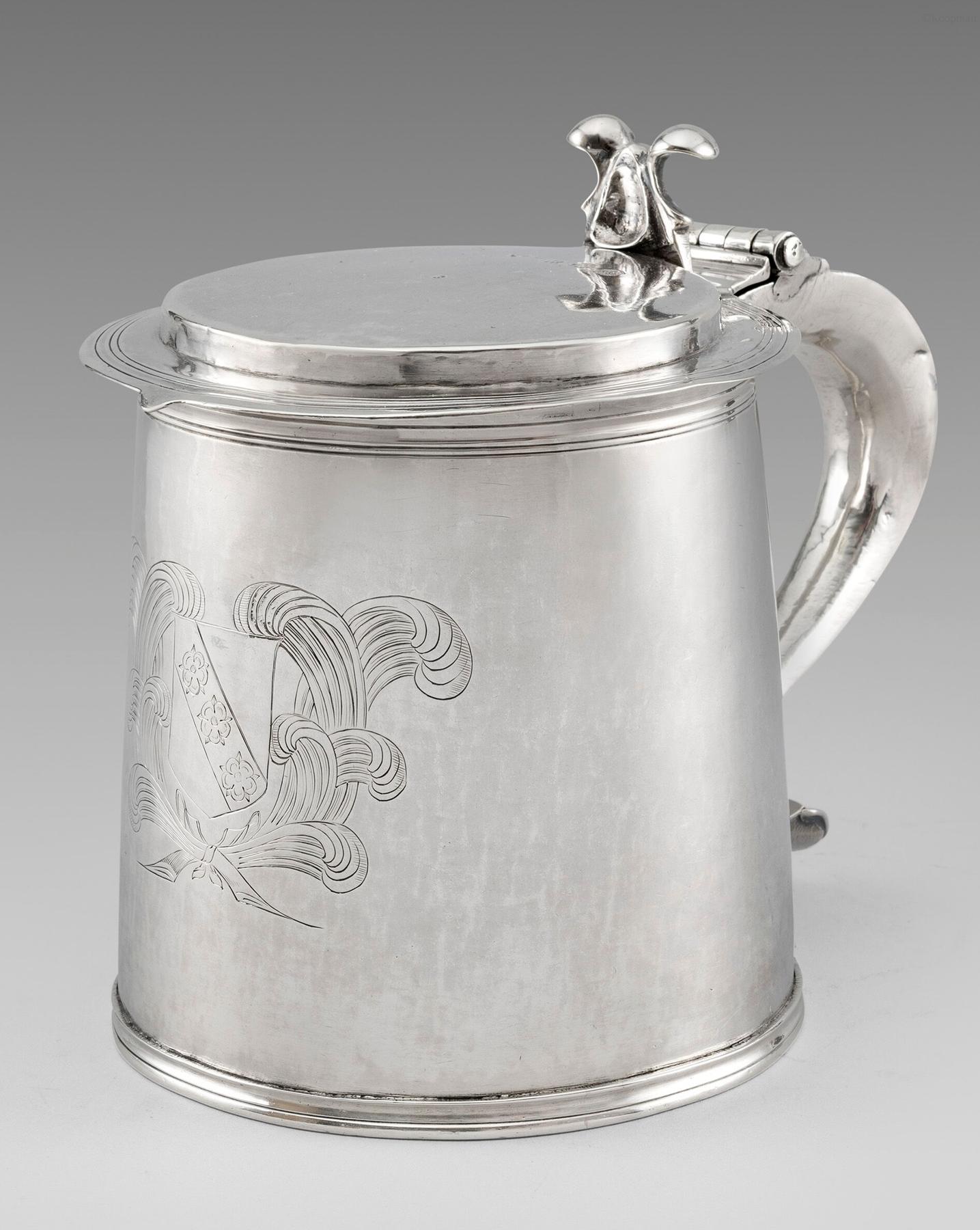 A Charles II Tankard
