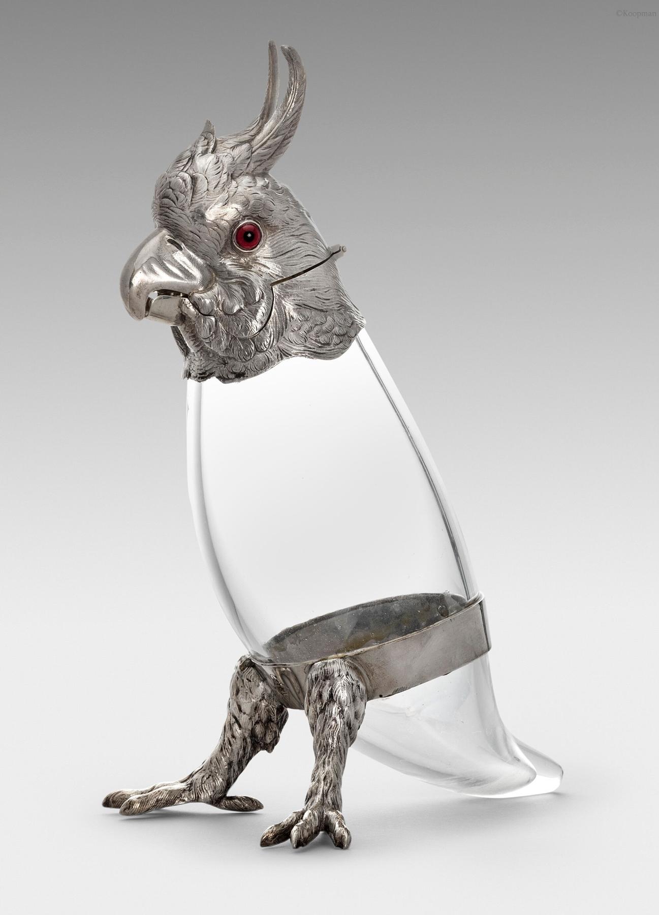 A Victorian Cockatoo Claret Jug