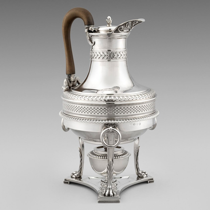 A George III Coffee Jug on Stand