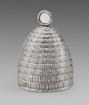 A George III Novelty Beehive Honey Pot