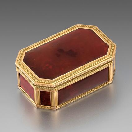 A Louis XVI Gold-Mounted Hardstone Snuff-Box
