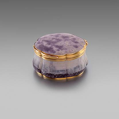 A German Gold Mounted Amethyst Box