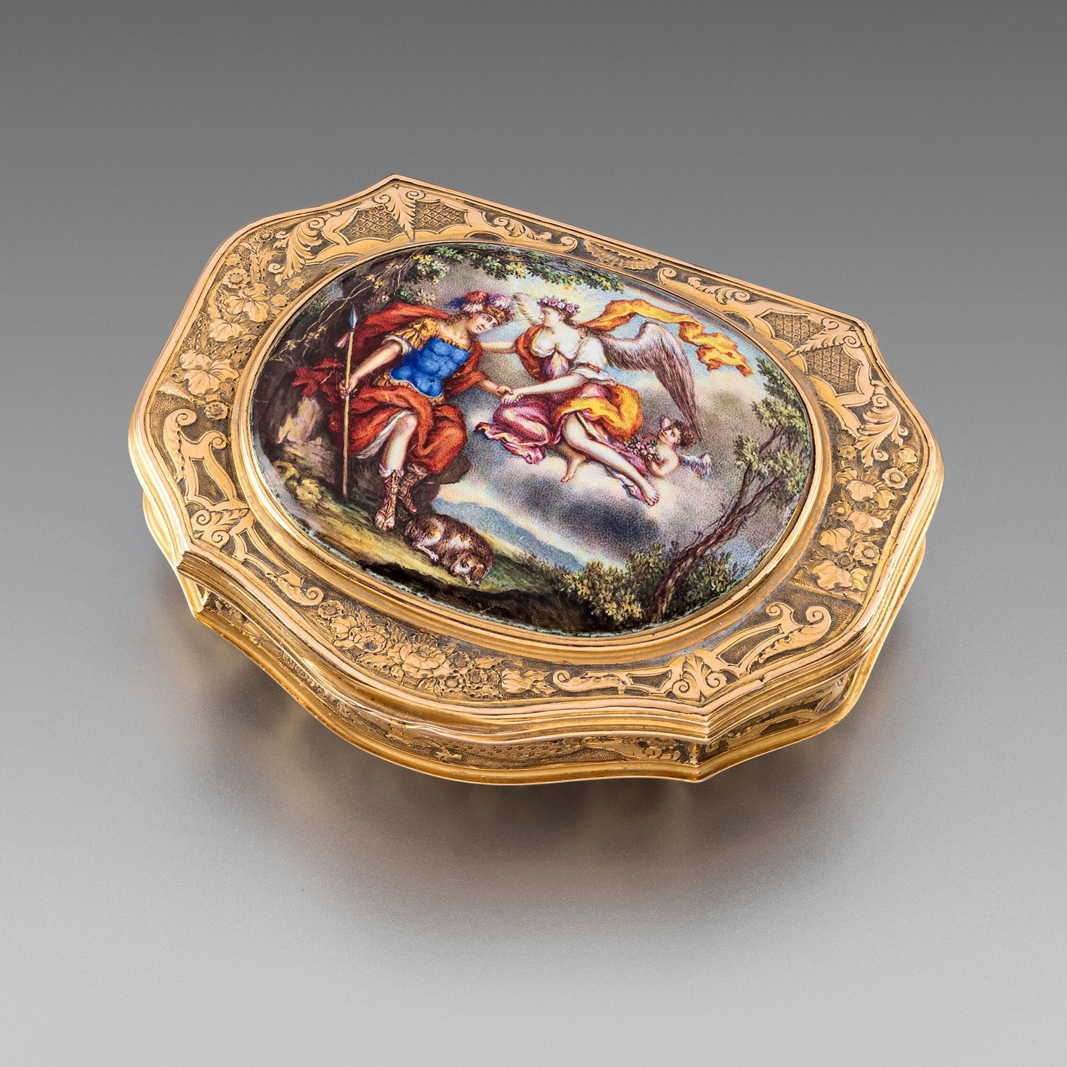 A German Enamel and Gold Box