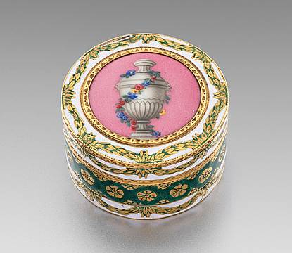 A George III Enamelled Gold Box