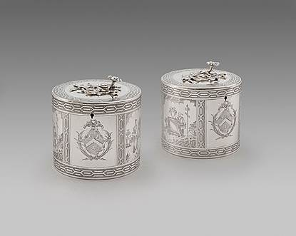 A Pair of George III Tea Caddies