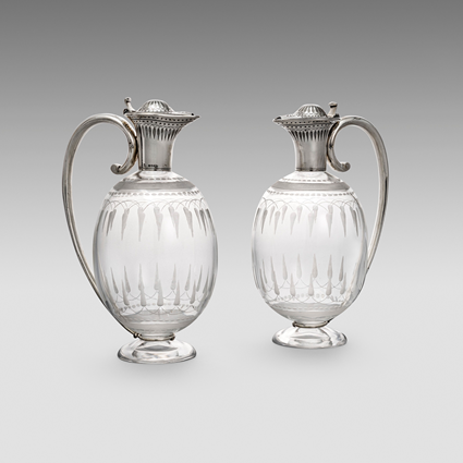 A Pair of Victorian Claret Jugs