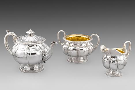 A Paul Storr Three-Piece Tea Set