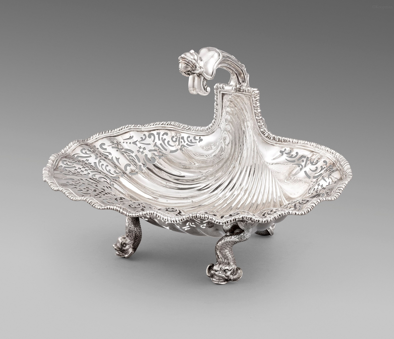 An Important George II Shell Basket