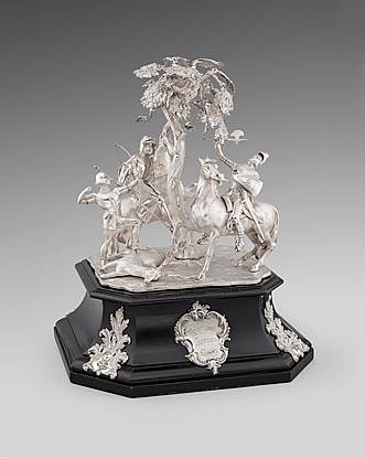A Victorian Figural Equestrian Trophy, 'Liverpool Autumn Cup'