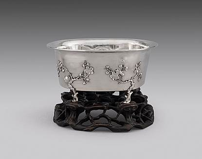 A 19th Century Chinese Bowl on Stand