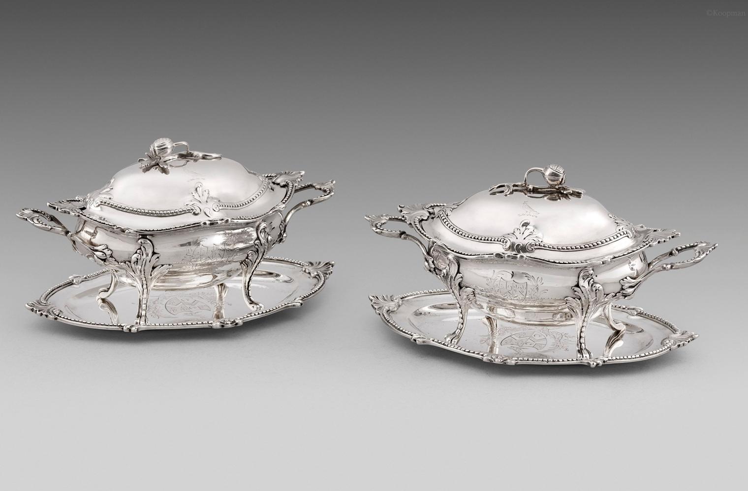 A Pair of George III Sauce Tureens