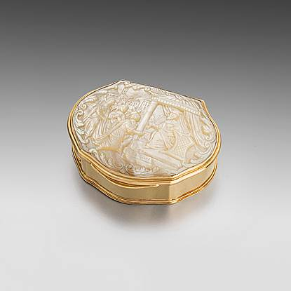 A Gold and Mother of Pearl Box