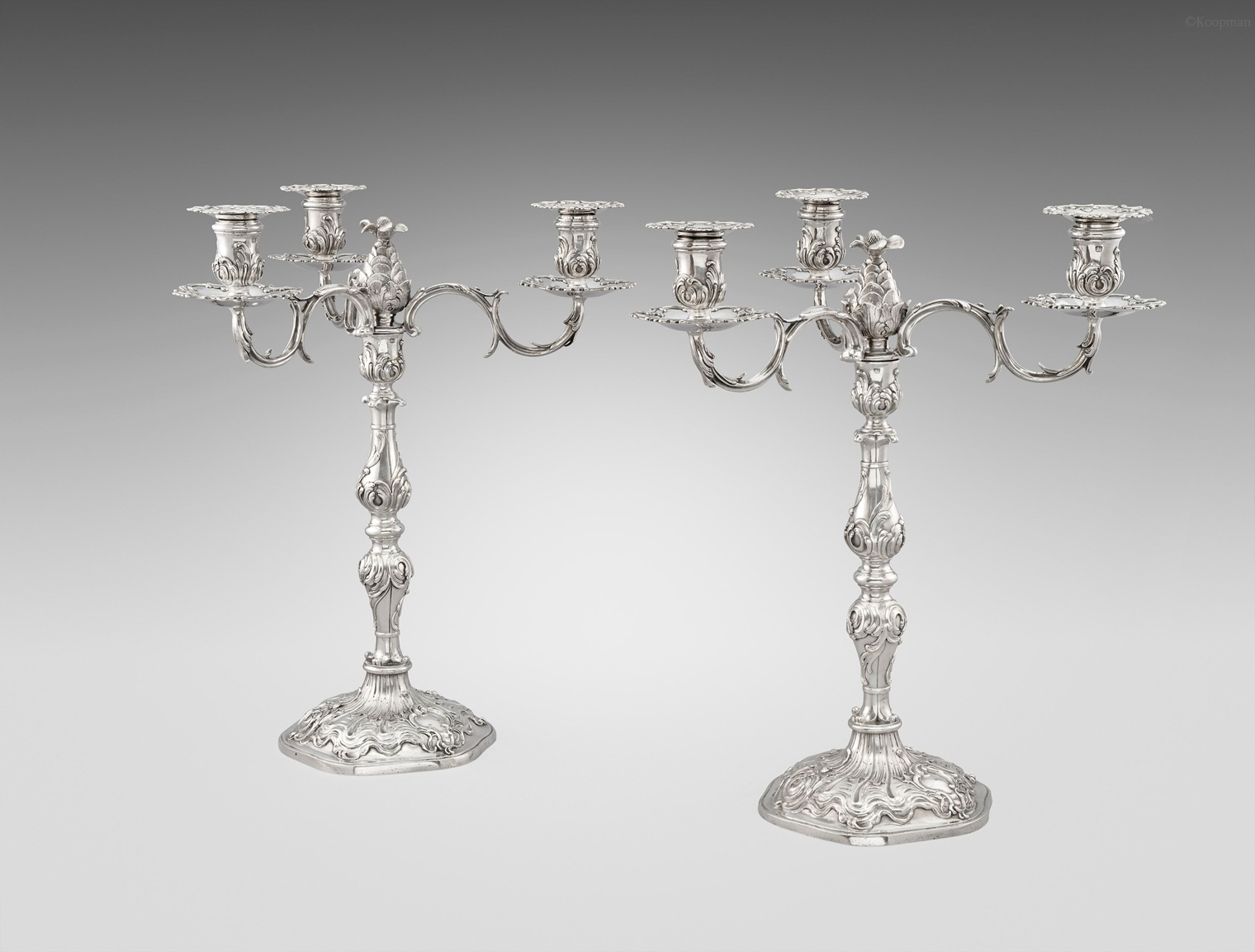 A Pair of George III Candelabra