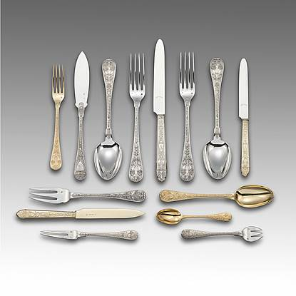 A XIX Century French Flatware Service