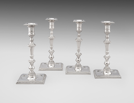 A Set of Four Montrose Candlesticks