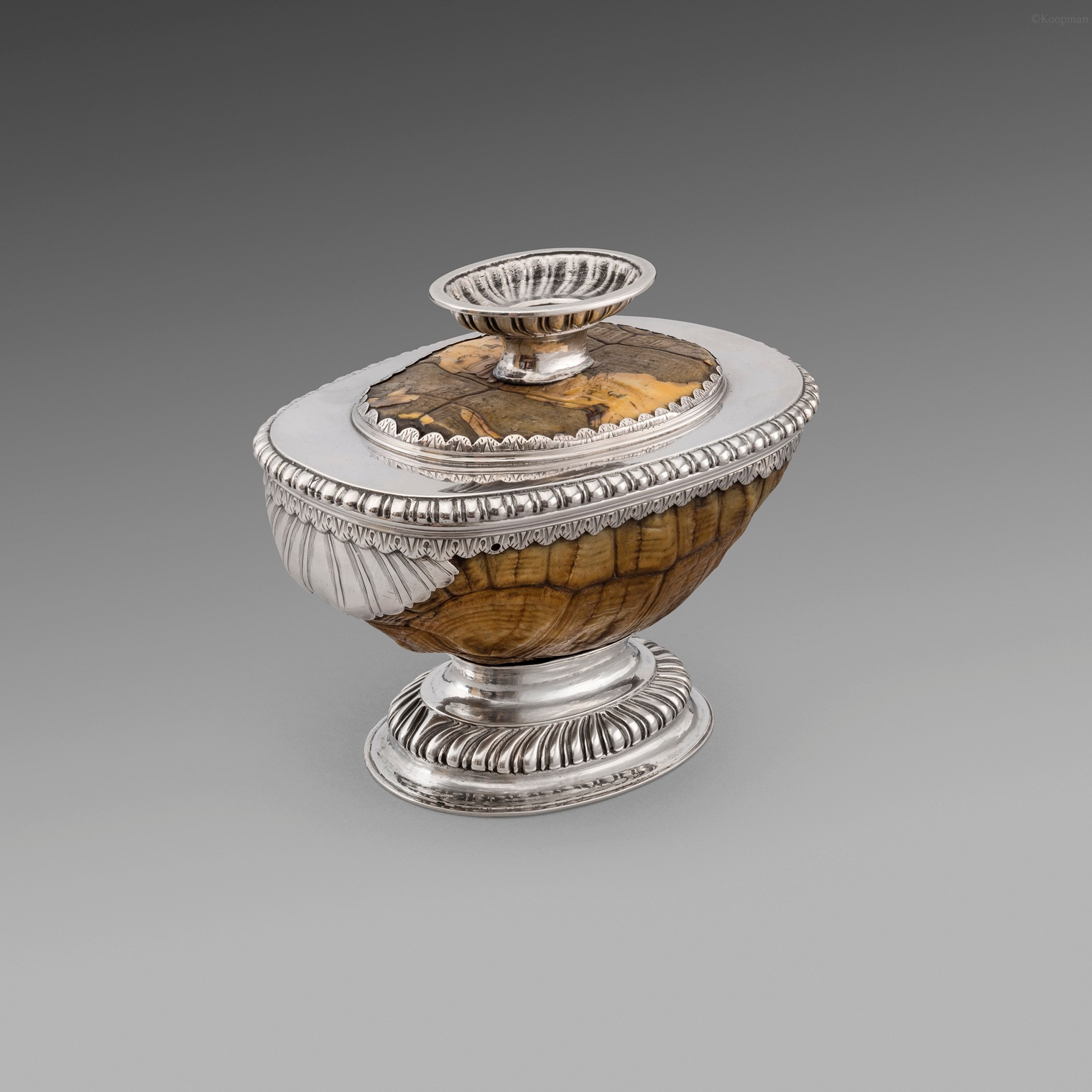 A Silver Mounted Tortoise Cup
