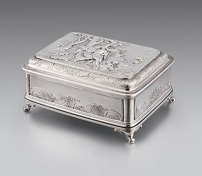 A George II Dressing Table Box