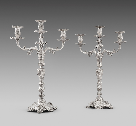 A Pair of George IV Candelabra
