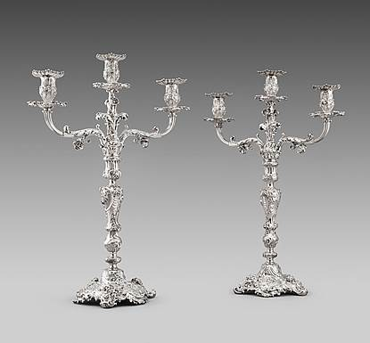 A Pair of Paul Storr Candelabra