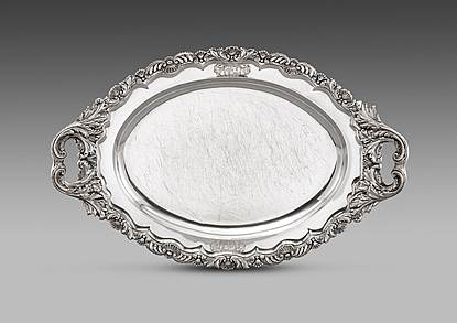 A George IV Oval Shaped Tray