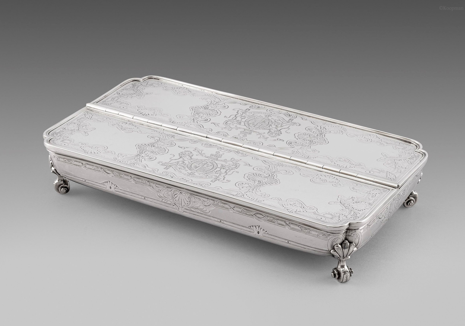A George III Treasury Inkstand