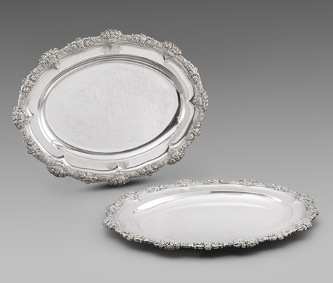 A Pair of George III Meat Dishes