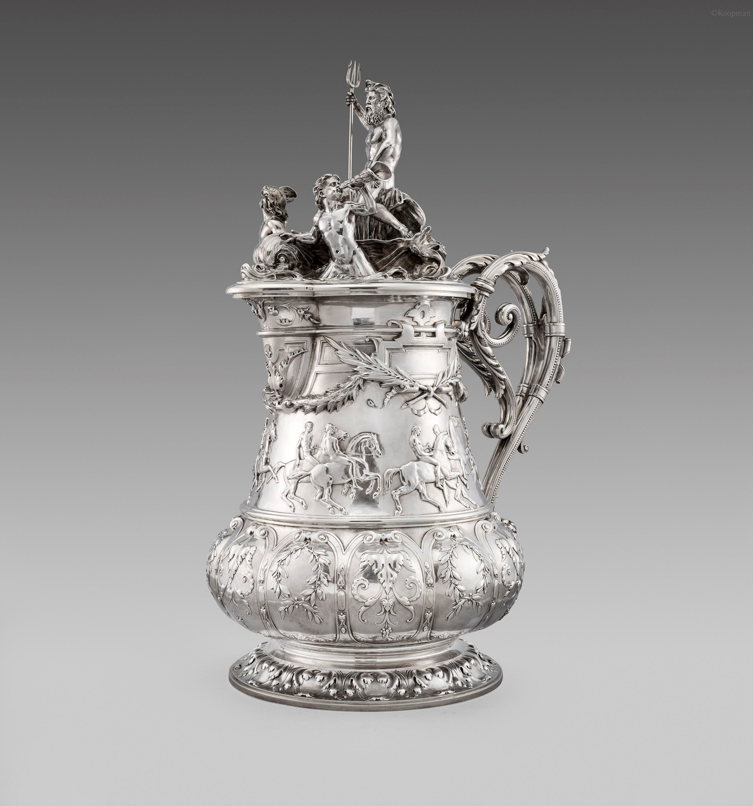 An Important and Massive French 19th Century Tankard
