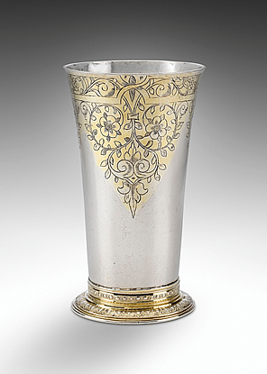 A James I Parcel Gilt Beaker, The Cosier Beaker