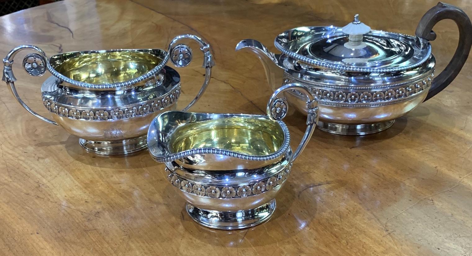 A George III Three Piece Tea Service