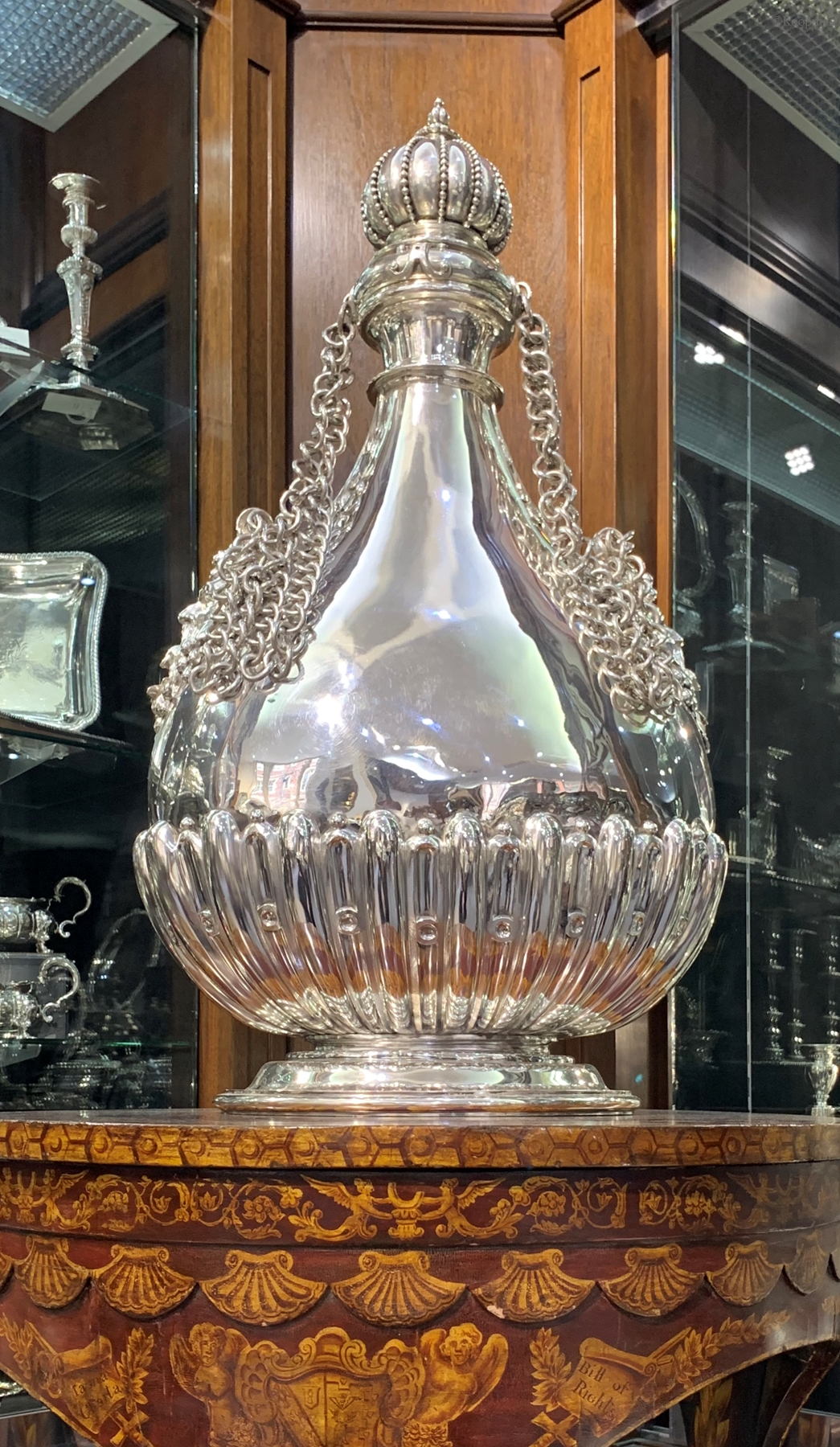 A Monumental 19th Century Pilgrim Bottle