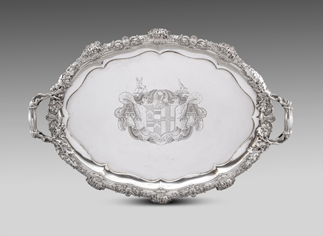 A Regency Two-Handled Tray